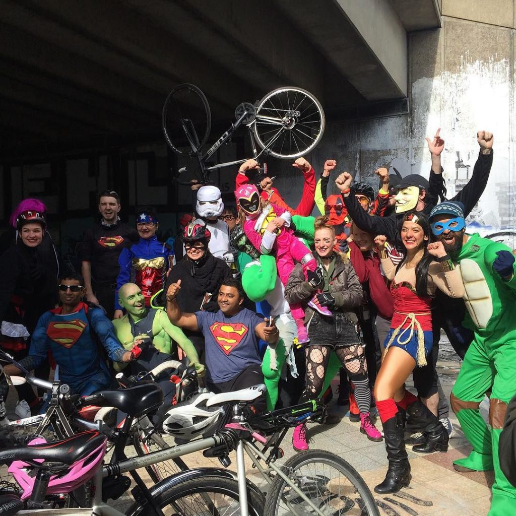 Cycling superheroes