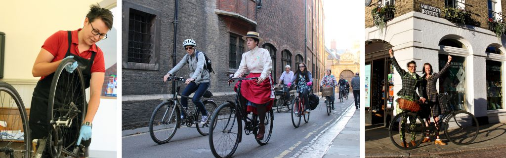 Bikes and Bloomers event