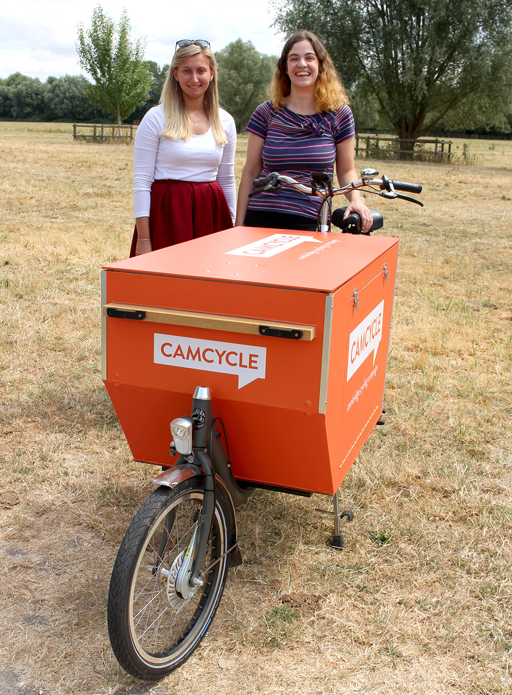 Emma, Anna and the Camcycle stall bike