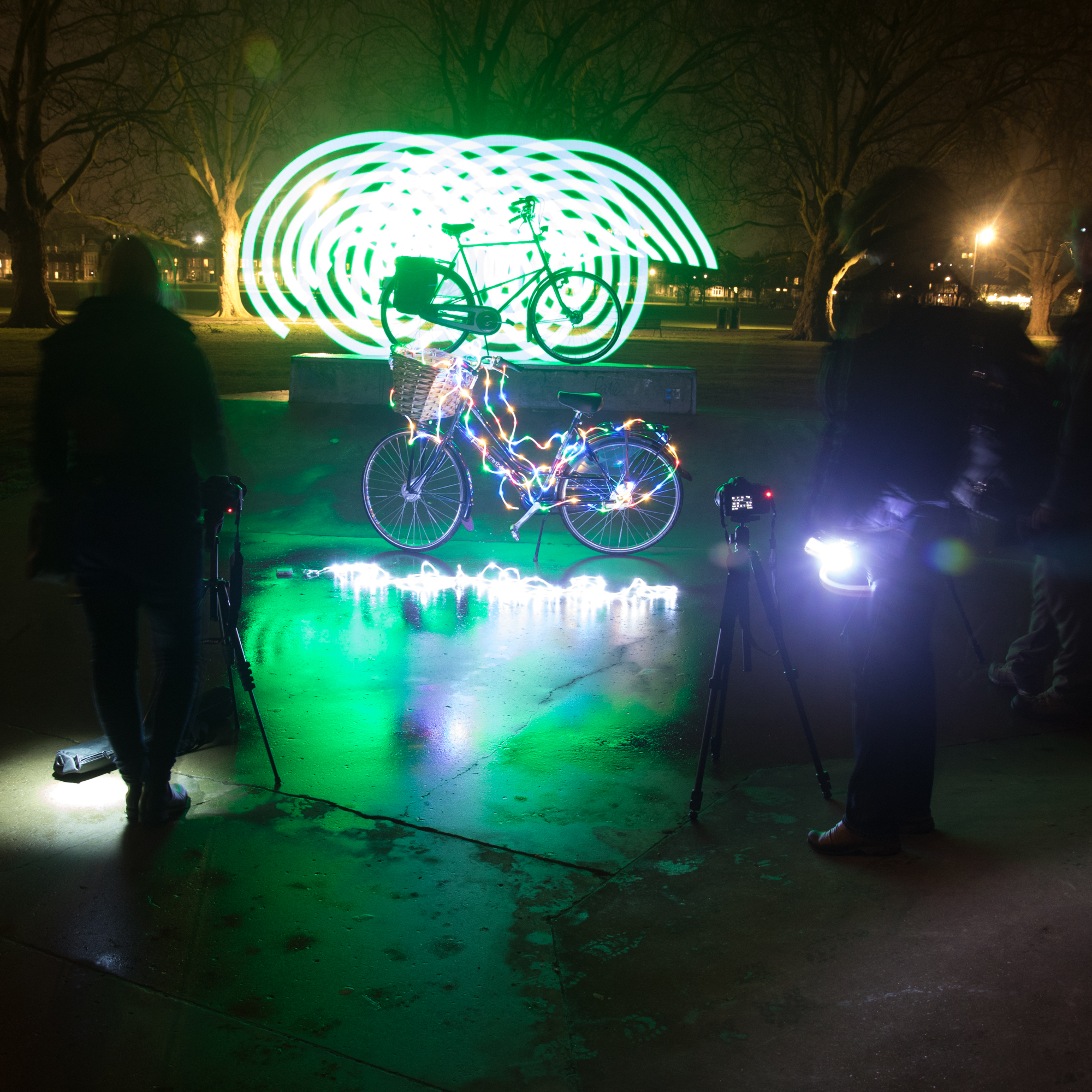 Cycle light painting workshop