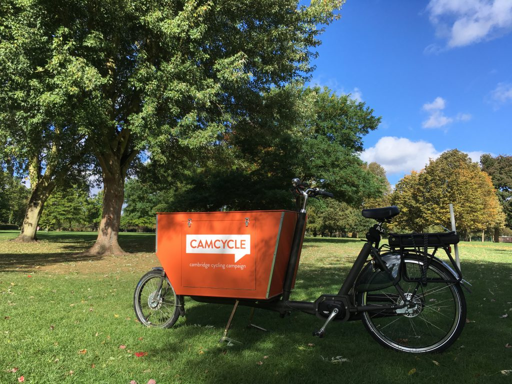 Camcycle cargo bike on Lammas Land