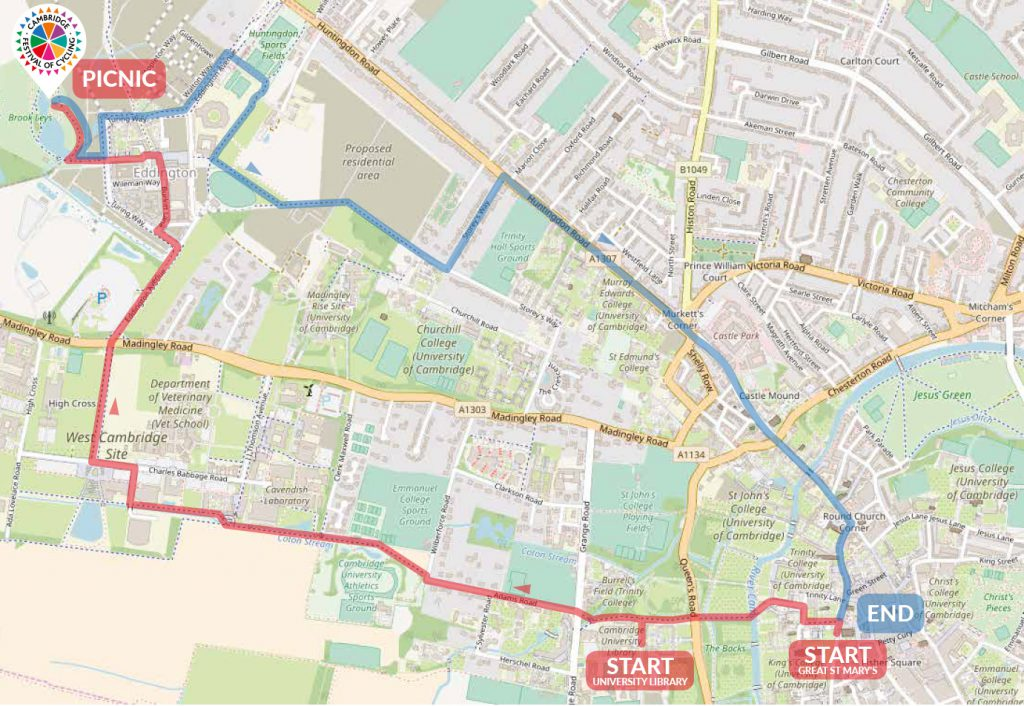 Camcycle social ride map